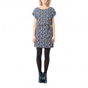 Платье с поясом BEST MOUNTAIN. Цвет: темно-синий