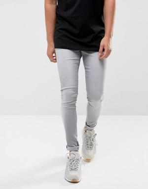 Waven Светло-серые джинсы скинни Extreme. Цвет: серый