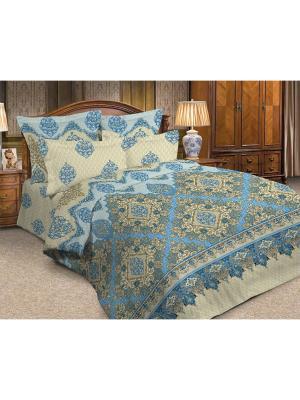 Комплект постельного белья ДУЭТ бязь люкс рис. 664 LaVanille. Цвет: голубой