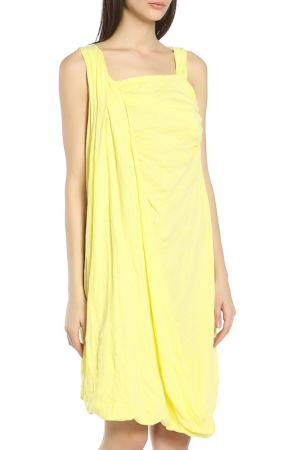 Легкое летнее платье Oblique. Цвет: желтый