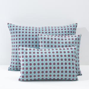 Наволочка-чехол на подушку из хлопковой перкали, AMÉLIA La Redoute Interieurs. Цвет: наб. рисунок синий/ красный