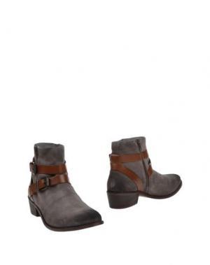 Полусапоги и высокие ботинки H by HUDSON. Цвет: серый