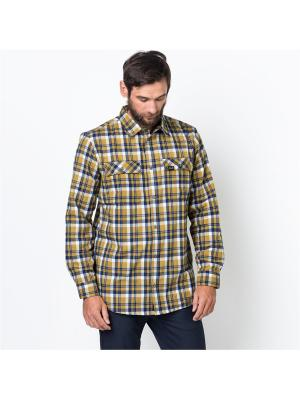 Рубашка BOW VALLEY SHIRT Jack Wolfskin. Цвет: желтый