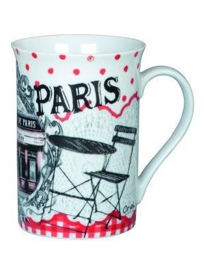 Чайная кружка керамическая  7,5,выс.10 см, 270 мл Бистро де Пари. Orval. Цвет: белый, черный, красный