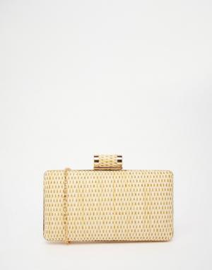 Vintage Styler Клатч-футляр с соломенной отделкой. Цвет: солома