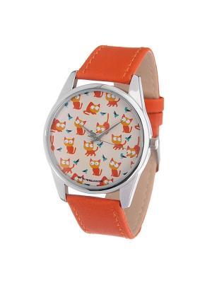 Часы Mitya Veselkov Рыжие кошки. Цвет: золотистый