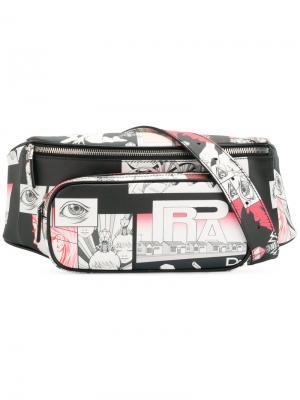 Поясная сумка Prada. Цвет: розовый и фиолетовый