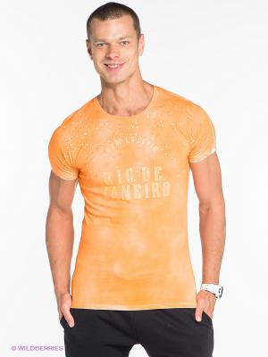 Футболка JB casual. Цвет: оранжевый