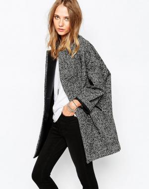 Gat Rimon Серое пальто из смесовой шерсти Camie. Цвет: серый