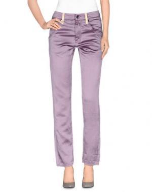 Повседневные брюки RA-RE. Цвет: сиреневый