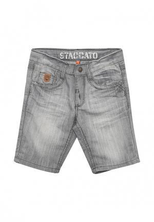 Шорты джинсовые Staccato. Цвет: серый