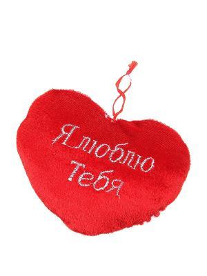 Сувенир (Сердце на присоске) Happy Charms Family. Цвет: красный, белый