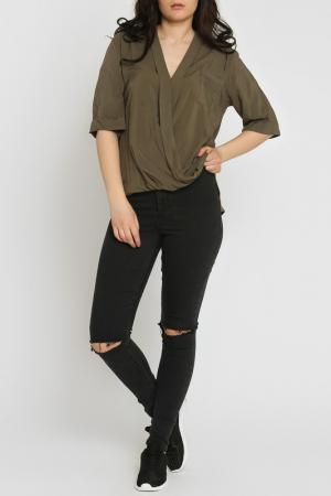 Блуза Moda di Chiara. Цвет: khaki