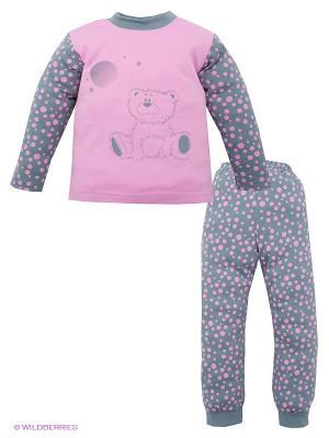 Пижама Лео. Цвет: розовый, серый