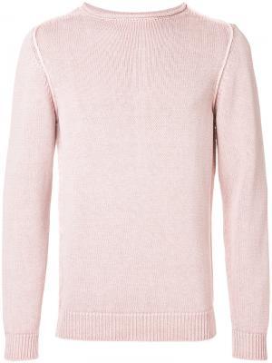 Джемпер с открытой строчкой Dondup. Цвет: розовый и фиолетовый