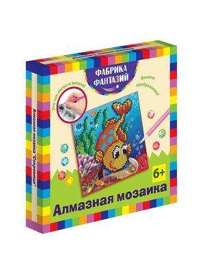 Алмазная мозаика Сокровище, размер 15х15 см Фабрика Фантазий. Цвет: синий, белый, желтый, зеленый, коралловый, красный, светло-коричневый, фиолетовый