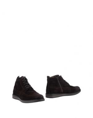 Полусапоги и высокие ботинки MONTEFIORI. Цвет: темно-коричневый