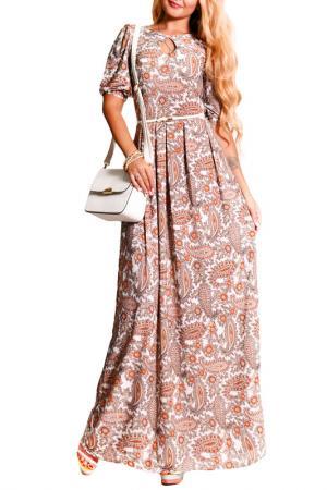Платье FRANCESCA LUCINI. Цвет: терракотовый