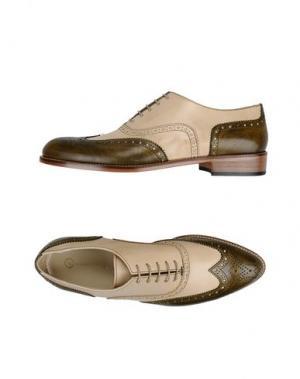 Обувь на шнурках LEONARDO PRINCIPI. Цвет: зеленый-милитари