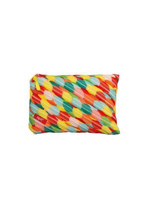 Пенал-сумочка COLORS JUMBO POUCH, цвет мульти пузыри большие ZIPIT. Цвет: оранжевый, желтый