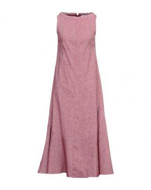 Длинное платье OBLIQUE CREATIONS. Цвет: красно-коричневый