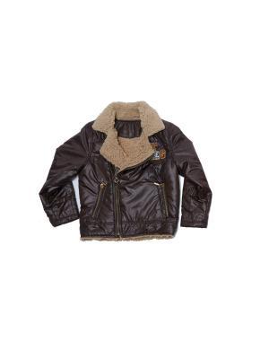 Куртка для мальчиков Pilota. Цвет: коричневый