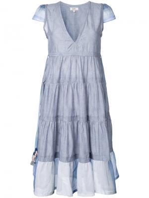 Платье с оборками Lemlem. Цвет: серый