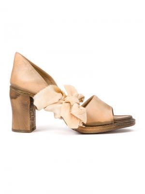 Knot detail sandals Cherevichkiotvichki. Цвет: телесный