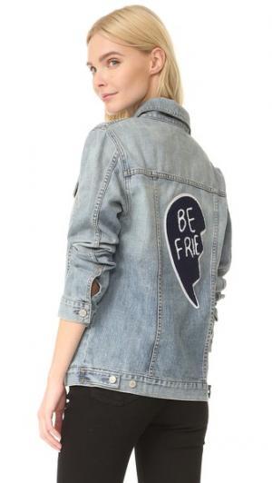 Куртка Knox с нашивкой «Best Friends» RAILS. Цвет: средний винтажный оттенок