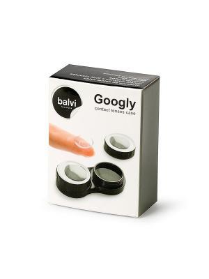 Футляр для контактных линз Googly черный Balvi. Цвет: черный