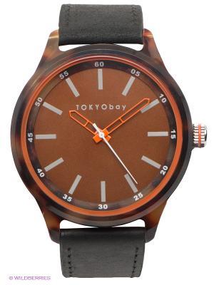 Часы Tokyobay Specs Black. Цвет: черный, коричневый