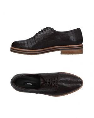 Обувь на шнурках ZINDA. Цвет: темно-коричневый