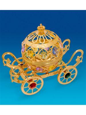 Фигурка-шкатулка Карета с цв.кр. Юнион. Цвет: золотистый