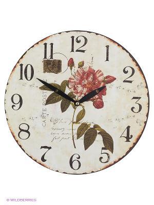 Часы настенные Дикая роза Mitya Veselkov. Цвет: белый