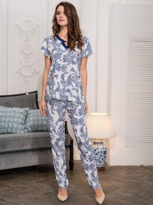 Пижама MIA-MELLA. Цвет: белый