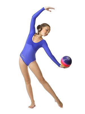 Гимнастический купальник Arina Ballerina. Цвет: синий