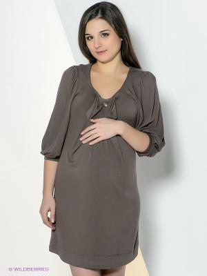 Платье UNIOSTAR. Цвет: светло-коричневый