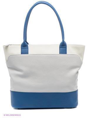 Сумка Esse. Цвет: синий, молочный, светло-серый