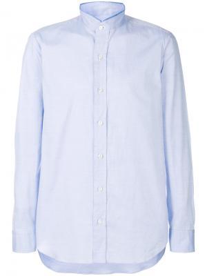 Рубашка с воротником-стойкой Salvatore Piccolo. Цвет: синий