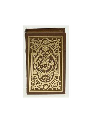 Шкатулка-фолиант Старинный узор Русские подарки. Цвет: коричневый