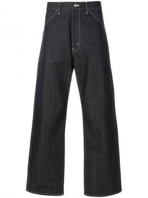 Широкие джинсы с отворотами Junya Watanabe Comme Des Garçons Man. Цвет: синий