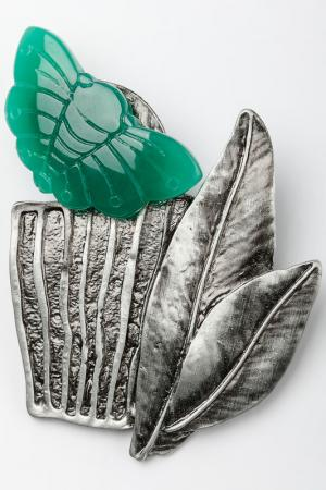 Брошь-кулон ZAXA HADID. Цвет: зеленый
