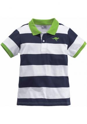 Футболка Kangaroos. Цвет: темно-синий/белый/зеленый