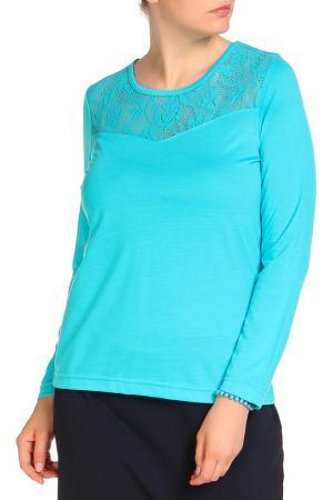 Блуза HELENA VERA. Цвет: бирюзовый