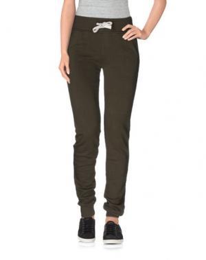 Повседневные брюки HYDROGEN. Цвет: зеленый-милитари