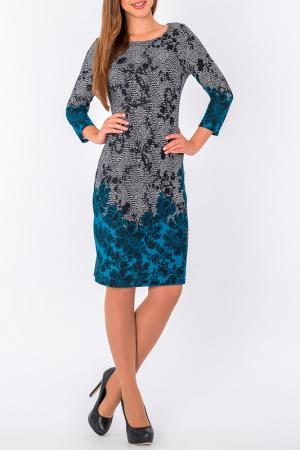 Платье S&A style. Цвет: бирюзово-черный