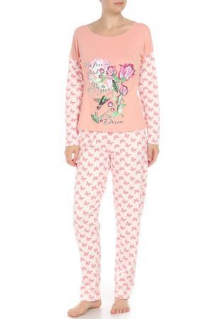 Комплект: лонгслив, брюки Веста. Цвет: бабочки
