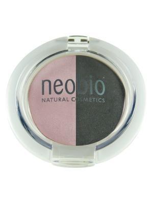 Двойные тени для век 01 розовый бриллиант Neobio. Цвет: розовый