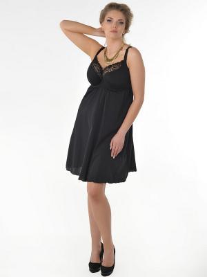 Сорочка Dea Fiori. Цвет: черный