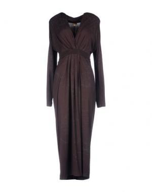 Платье до колена ALVIERO MARTINI 1A CLASSE. Цвет: темно-коричневый